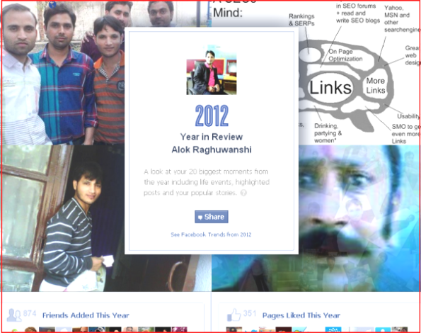 Alok Raghuwanshi Facebook 2012 Year In Review