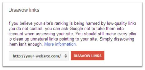 How To Use The Link Disavow Tool