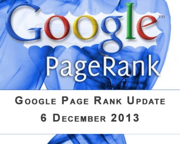 Google Page Rank Update 6 December 2013