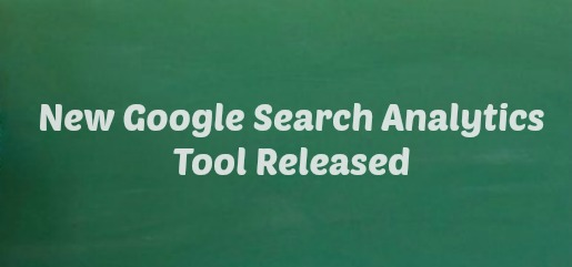 New Google Search Analytics Tool Released