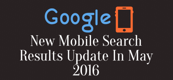 New Mobile Search Results Update In May